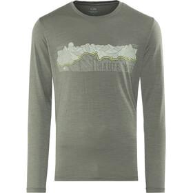 Icebreaker Tech Lite Haute Route LS Crewe Shirt Herr metal